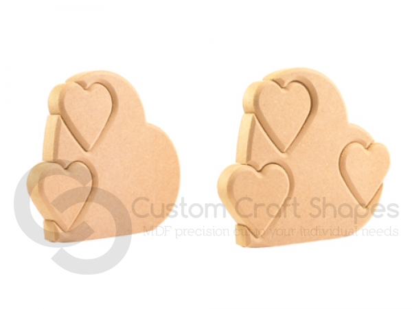 Heart with Multiple Interlocking Hearts (18mm)