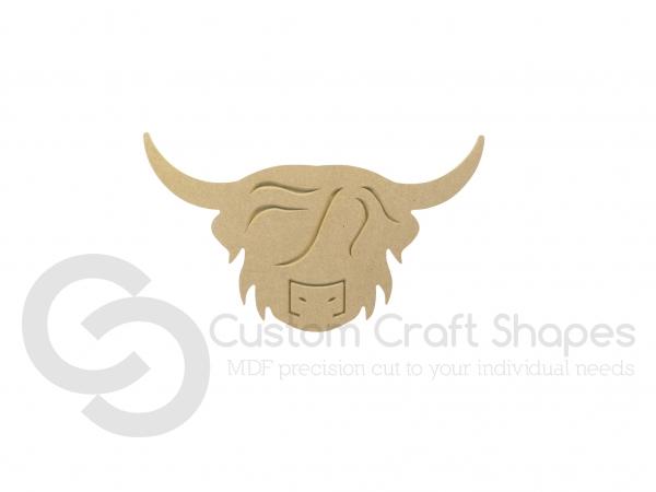 Highland Cow Head Shape (6mm)