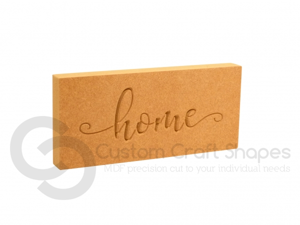 Home, Engraved Plaque (18mm)