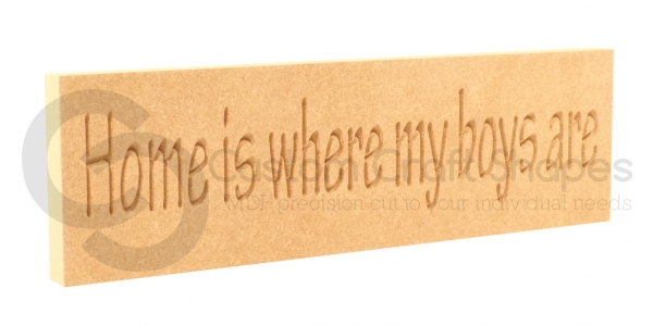 Home is where my... Engraved Plaque(18mm)