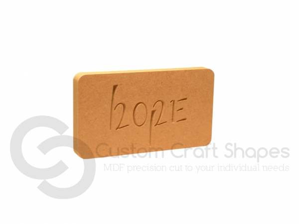 Hope/2021 Engraved Plaque (18mm)