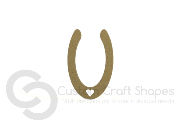 Horse Shoe with Heart (6mm)