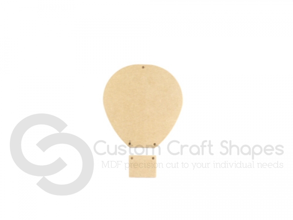 Hot Air Balloon and Basket with drilled holes (6mm)