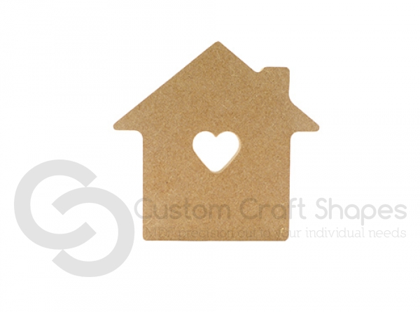 House with Heart cut out (6mm)