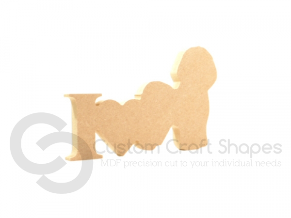 I Love Bichon Frise Sign (18mm)