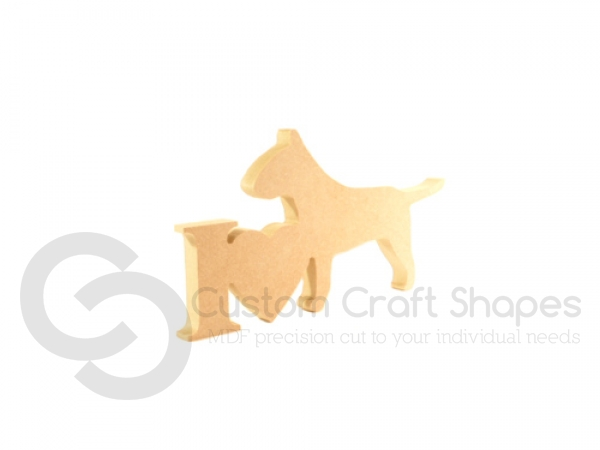 I Love Bull Terrier Sign (18mm)