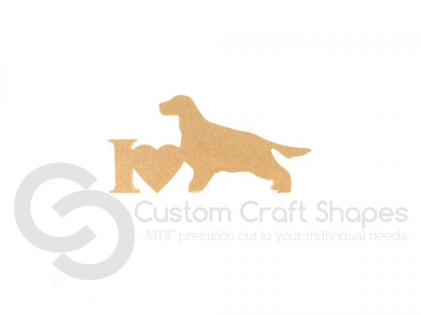 I Love Cocker Spaniel (long tail) Sign (18mm)