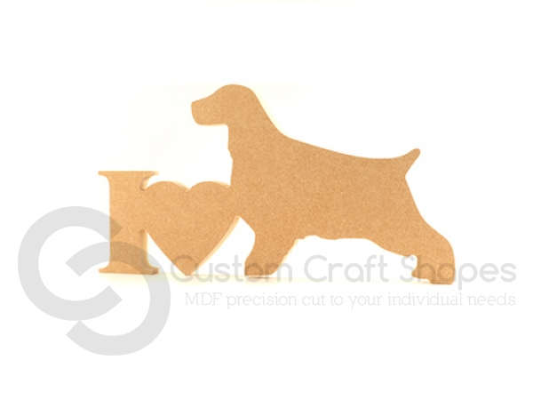 I Love Cocker Spaniel (short tail) Sign (18mm)