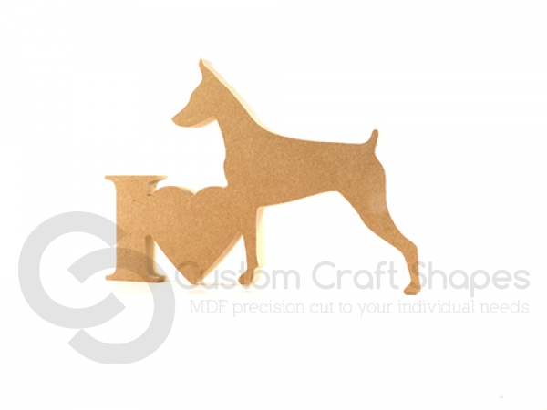 I Love Doberman Sign (18mm)