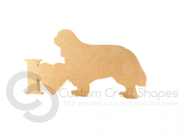 I Love King Charles Spaniel Sign (18mm)