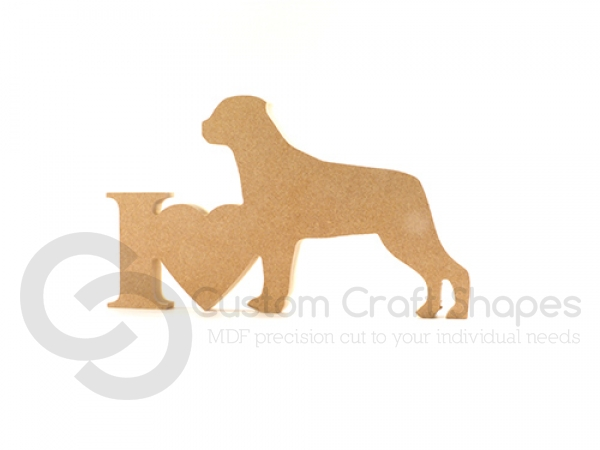 I Love Rottweiler Sign (18mm)