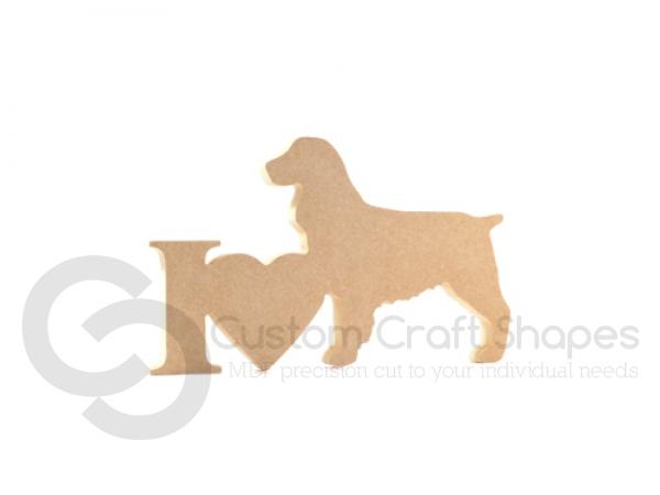 I Love Springer Spaniel Sign (18mm)