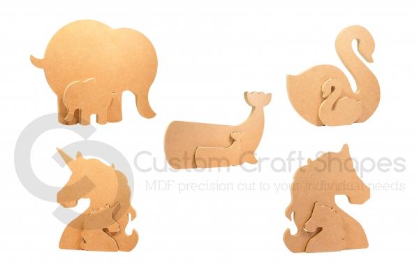Interlocking Adult/Baby Animals