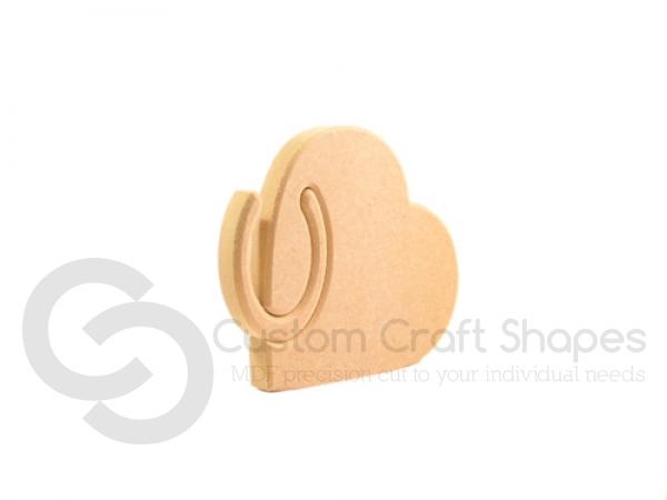 Interlocking Horseshoe in a Heart (18mm)