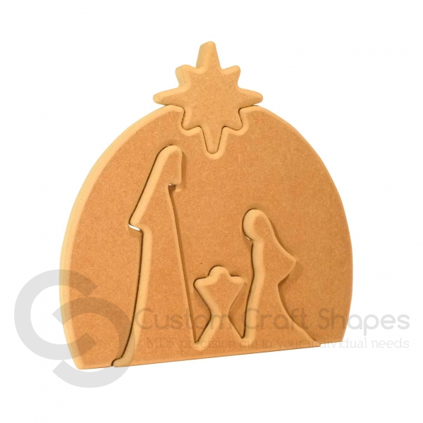 Interlocking Nativity Set (18mm)