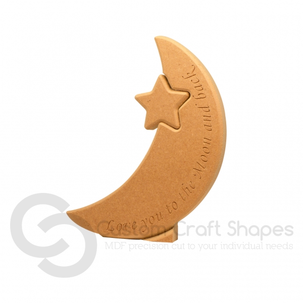 Interlocking Star in a Moon, 'Love you to the Moon...'