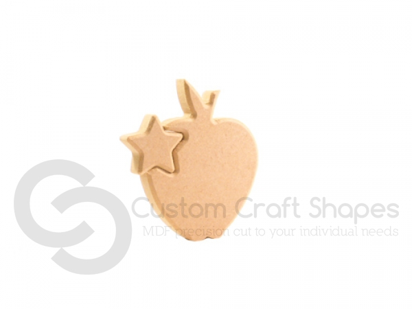 Interlocking Star in an Apple (18mm)