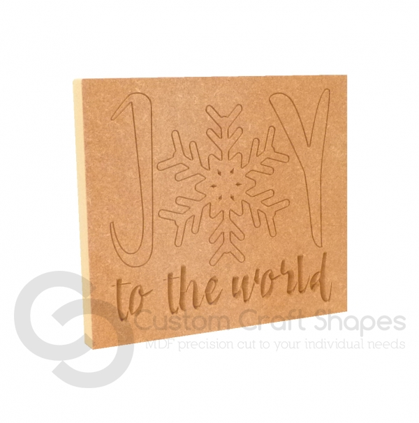 Joy To The World, Engraved Plaque (18mm)