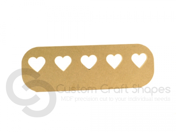 Key Holder Plaque with Hearts (9mm)
