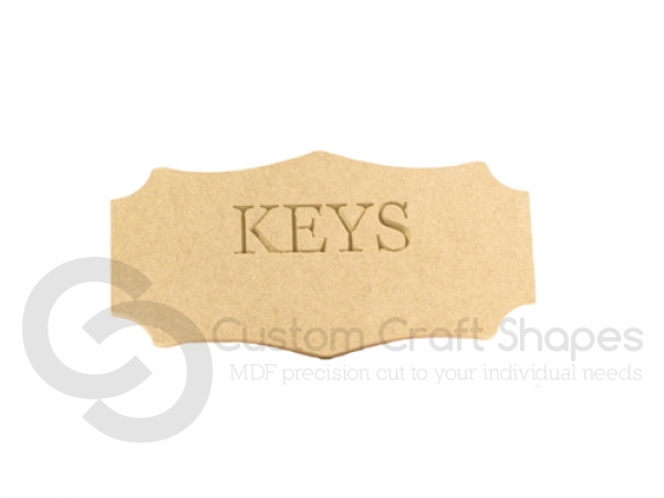 Keys Plaque (6mm)