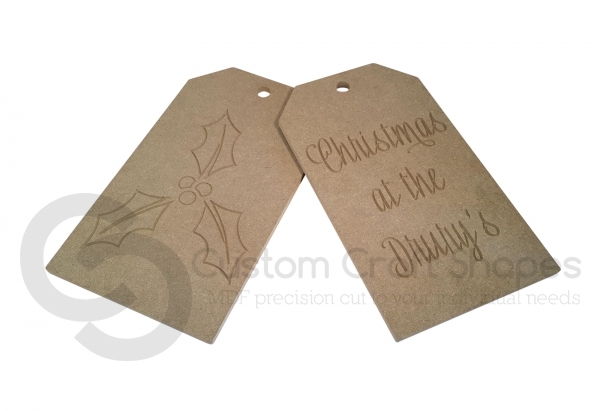 Large Door Tags, 'Christmas at the...' (9mm)