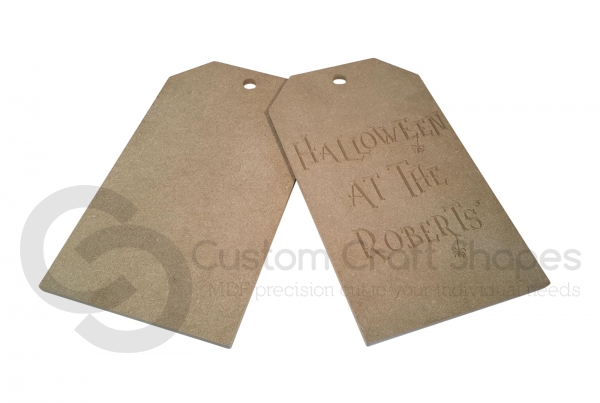 Large Door Tags, 'Halloween at the...' (9mm)