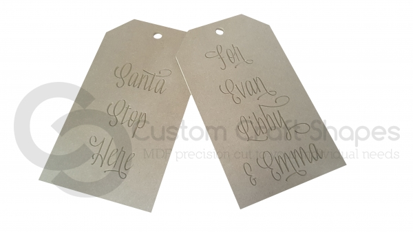 Large Door Tags, 'Santa Stop Here for ...' (9mm)
