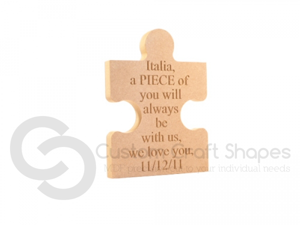 Large, Personalised Engraved Jigsaw Piece (18mm)