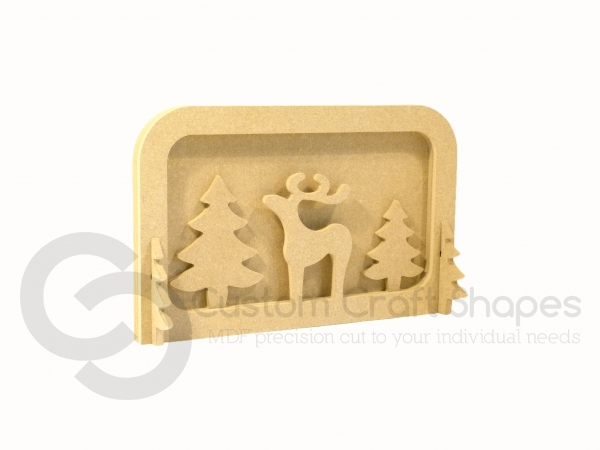 Layered Reindeer Scene, With 1 Adult...6mm