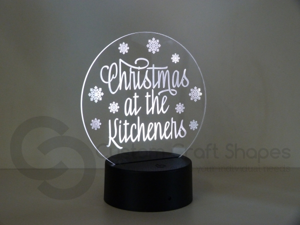 LED/Acrylic Light - Christmas at the...