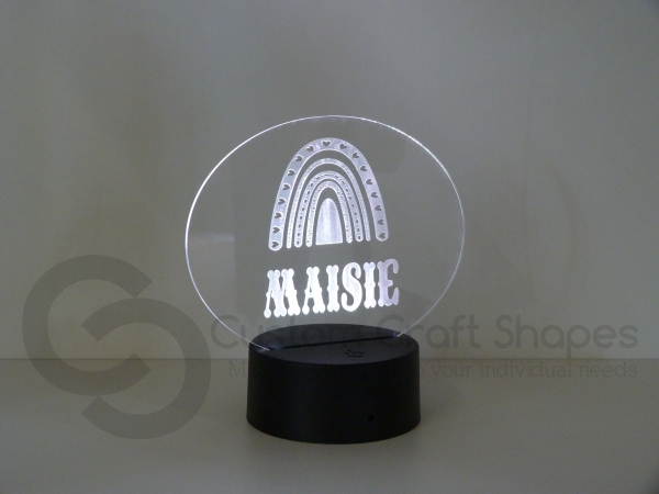 LED/Acrylic Light - Rainbow and Name