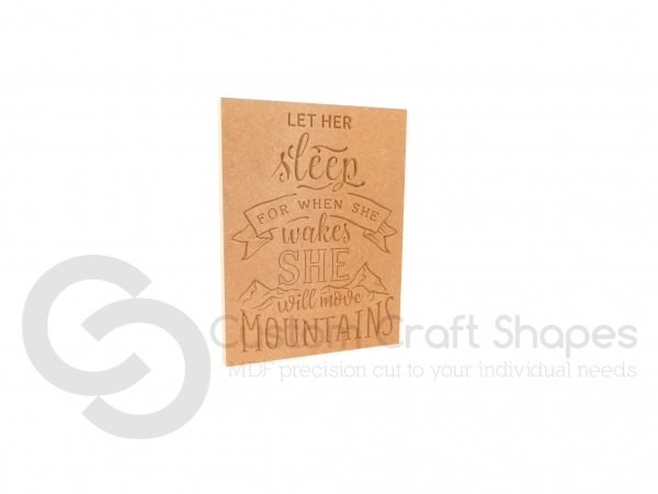 Let Her Sleep... Engraved Plaque (18mm)