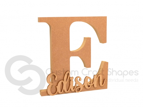 Letter with 3mm Name