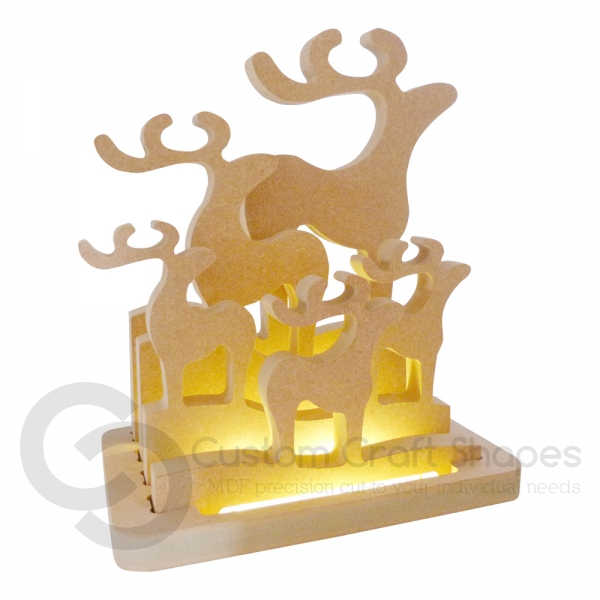 LIGHT UP Classic Reindeer Family (18mm)