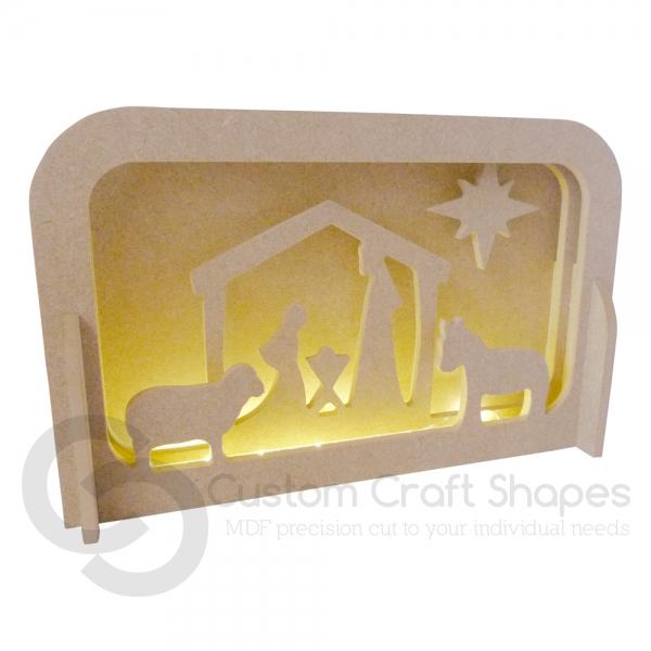 LIGHT UP Layered Nativity Scene, 6mm