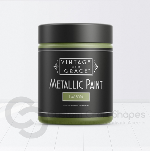 Lime Soda, Metallic Paint, Vintage with Grace