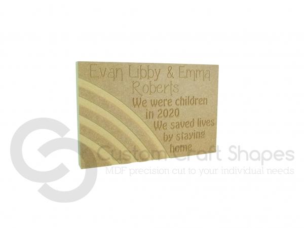 Lockdown Memory Plaque (18mm)