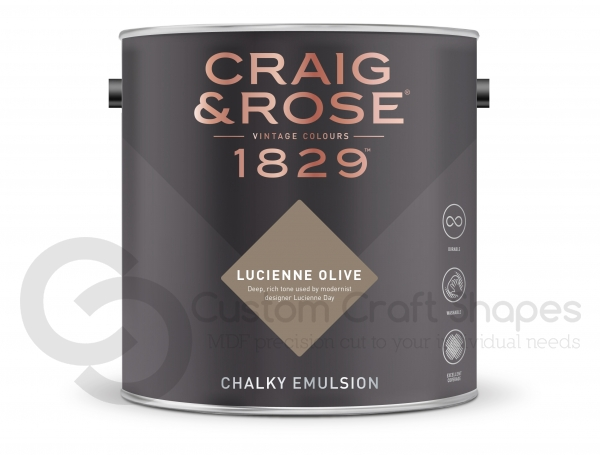 Lucienne Olive chalky Emulsion, Craig & Rose Paint