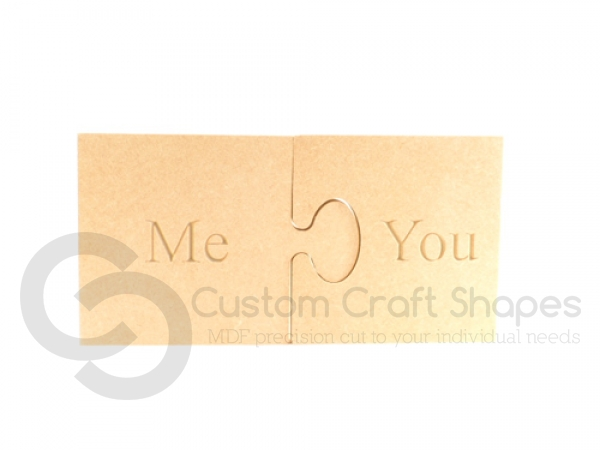 Me/You Engraved Jigsaw Pieces (18mm)