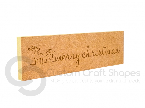 'merry christmas' Engraved Plaque (18mm)