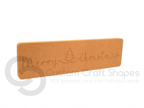Merry Christmas With a Tree, Glitter Font (18mm)