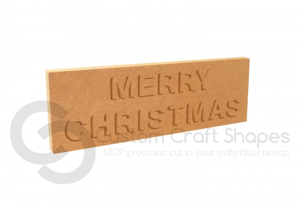 Merry Christmas Shadow, Engraved Plaque (18mm)
