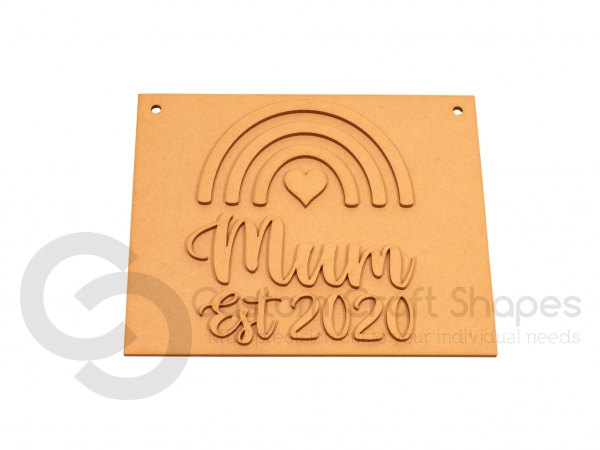 Mum Est. Laser Plaque (3mm)
