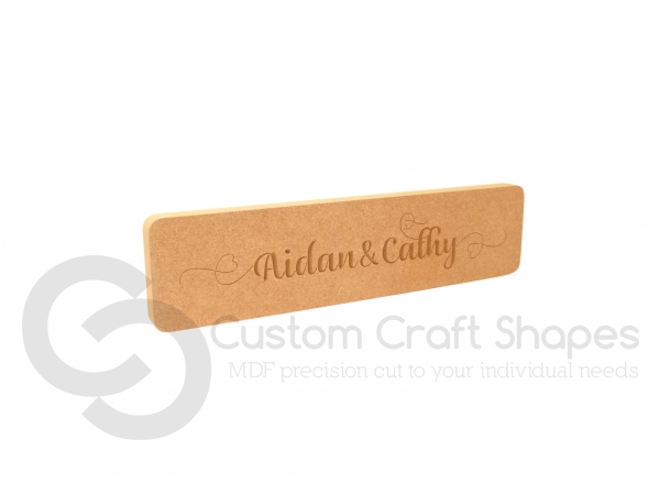 Name Plaque - Heart Font (18mm)