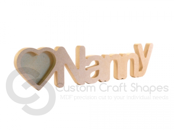 Nanny Photo Frame with 1 Heart on side (18mm)
