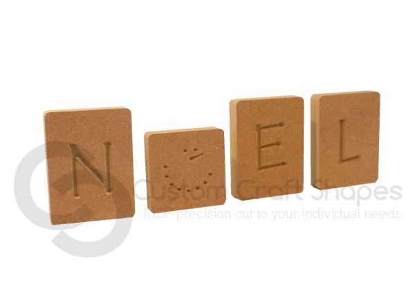 Noel Letter Blocks, Engraved (18mm)