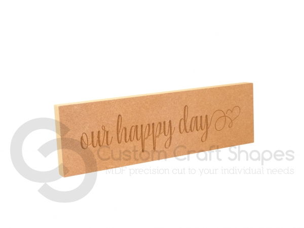 our happy day, Engraved Plaque (18mm)