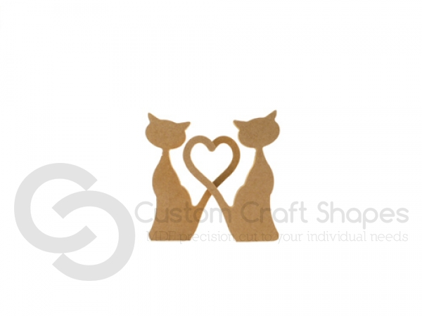 Pair of Heart Tail Cats (18mm)