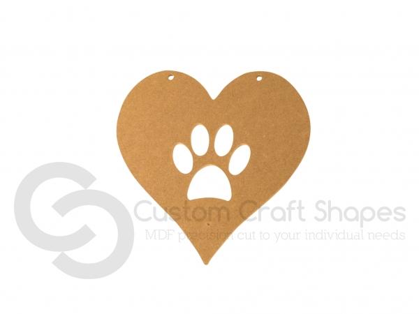 Paw Print Heart (6mm)