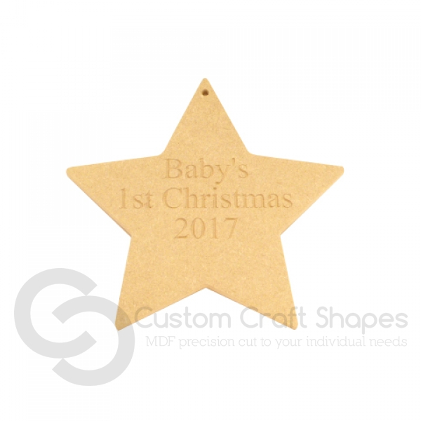 Personalised 1st Christmas Hanging Star (6mm)